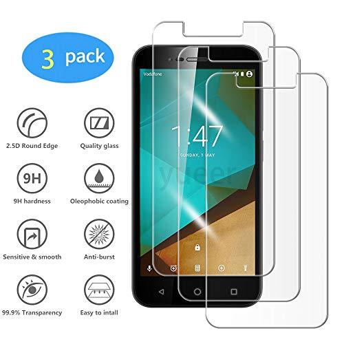 yueer [3 Pack Panzerglas Schutzfolie für Vodafone Smart Prime 7,[Anti- Kratzer] [Ultra Clear] Panzerglasfolie Bildschirmschutzfolie Folie für Vodafone Smart Prime 7.
