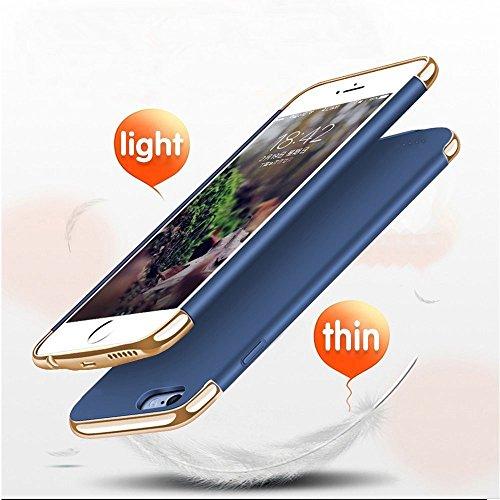 Haichen iPhone 6/6s, iPhone 6Plus/6s Plus Coque batterie batterie Extended sauvegarde banque de puissance bleu