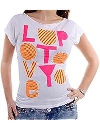 Cipo & Baxx Damen T-Shirt POP CBW-1267 weiß