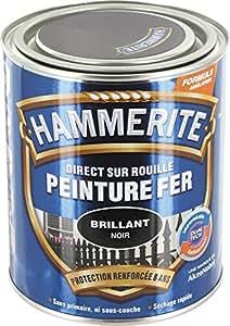 Hammerite - Peinture brillante / Boîte 750 ml - Noir