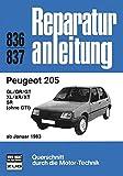 Peugeot 205  ab  01/1983 (Reparaturanleitungen)