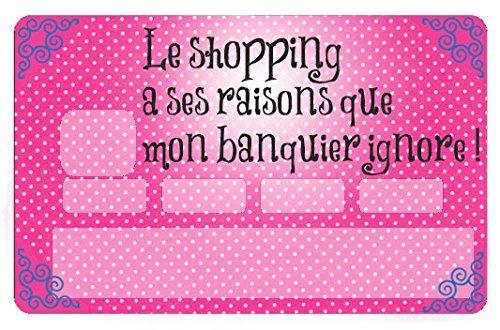 Stickers CB, decoratif, pour carte bancaire, Mon banquier ignore mes raisons - créé par le DgedeNice -autocollant de haute qualité, création & fabrication Française