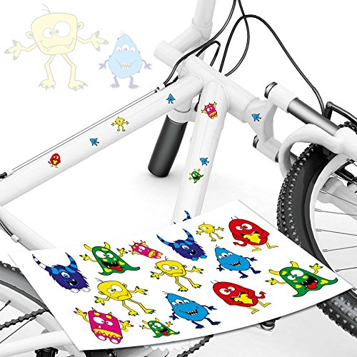 style4Bike Monster Fahrrad Aufkleber Monster Sticker für Das Fahrrad als Aufkleber   Top - Aufkleber Sticker Monster
