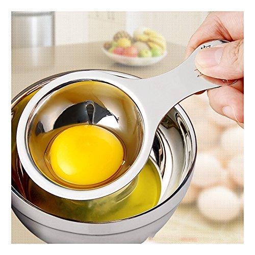 Spucken Kochen (Home & Style Eiabscheider Eiweiß Eigelb Filter Separator 18/8 Edelstahl Eiersieb Küchenhelfer Kochen)