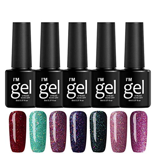 Voiks 19 Colours Gel Nail Polish UV LED Soak Off Platinum Varnish...