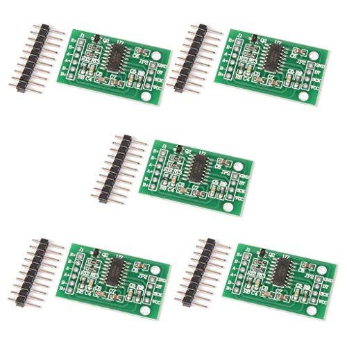Este módulo utiliza 24 chips convertidores A / D de alta precisión hx711, está diseñado para el diseño y la escala electrónica de alta precisión, con dos entradas de canal analógicas, la integración interna de un amplificador programable de ganancia ...