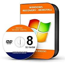"Re INSTALL Repair Restore WINDOWS 8 ""PROFESSIONAL"" Edition 64 Bit PC Laptop Computer DVD CD Disc Disk"