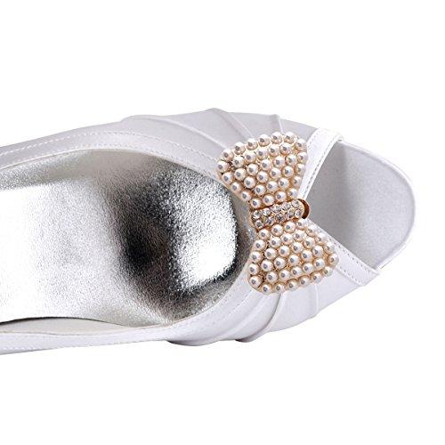 Elegante Fiocco Da Parco Con Perle Di Strass Design Regalo Pompe Piatte Scarpe Da Donna Fermaslip 2 Perline Oro