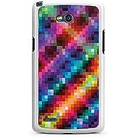 LG L80 Hülle Case Handyhülle Pixel Bunt Colourful
