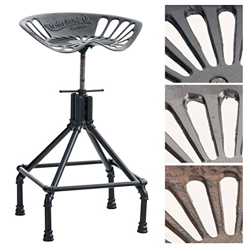 clp tabouret de bar pipe en fer fonte pitement en mtal style industriel - Tabouret De Bar Metal Industriel