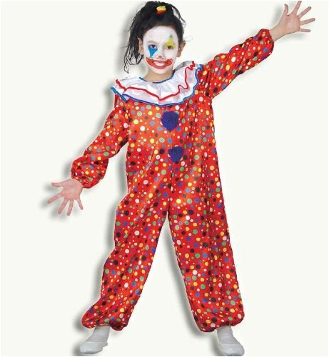 Clown Pünktchen Overall Kinder Kostüm Gr 98
