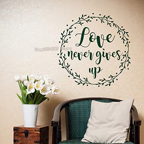 Verkauf Schrift Christliche Wandaufkleber Liebe Gibt niemals Klebstoff Vinyl Home Decoration Abnehmbare Aufkleber 42X42CM