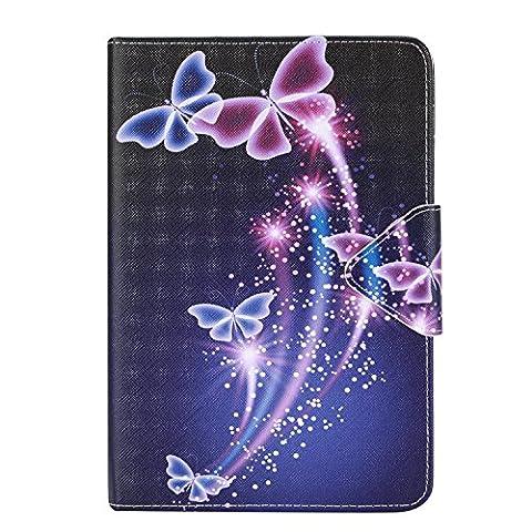 iPad Mini 1 Hülle,iPad Mini 3 Hülle,iPad Mini 3 Hülle, Cozy Hut iPad Mini 1/2/3 Case Schutzhülle Hochwertiges PU Leder Ultra Schlank Superleicht Ständer Smart Shell Cover Schutzhülle Etui Tasche für iPad Mini 1/2/3 Tablet-PC - Schmetterling
