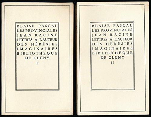 les-provinciales-ecrits-des-curs-de-paris-pierre-nicole-et-jean-racine-lettres-le-pre-daniel-rponse-aux-provinciales-complet-en-2-tomes-texte-tabli-et-prsent-par-jean-steinmann-notes-chronologie-lexique-bibliographie