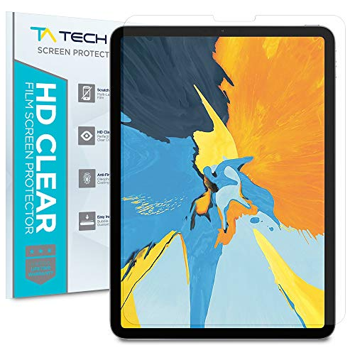 Tech Armor HD Clear Plastic Film Screen Protector (Not Glass) Designed for Apple iPad Pro 11-inch (New 2018) [2-Pack]