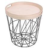 Norländer 8333 Iron Basket with Serving Tray Black XL - Mochila de hierro, color negro