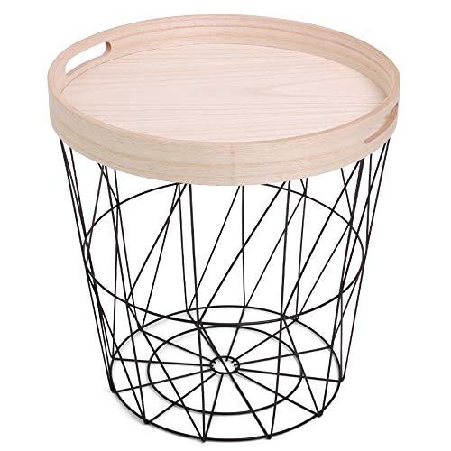 Norländer 8333 Iron Basket with Serving Tray Black