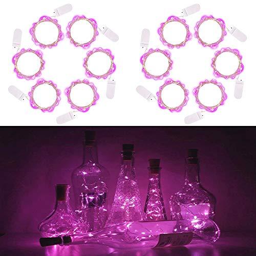 LED-String-Licht 10 LED Pink Light String 3.3 FT 10 LEDs Batteriebetriebene Jar beleuchtet Fee String Twinkle Lichter für Indoor Outdoor-Dekoration Schlafzimmer Hochzeit Garten Weihnachten ()