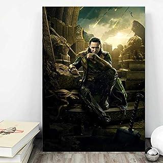 Loki Poster Marvel Thor Brother Print Film Wall Art | High-Quality Gloss Card Print, Standard Sizes UNFRAMED | Asgard Avengers Gifts Comics Cartoon (A5 (148×210mm))