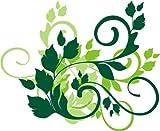 INDIGOS UG - WANDTATTOO / Wandsticker / Wandaufkleber / Aufkleber bunt farbig MF196 Tribal Ranke Pflanze Blume 20 x 16 cm