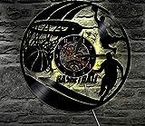 WCZZH Basketball Sport Fan Led Vinyl Uhr Licht Farbe Ändern Wandleuchte Fernbedienung Led-Hintergrundbeleuchtung Coole Wohnzimmer, 12 Zoll