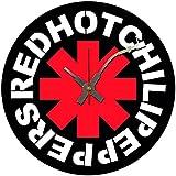 BottleClocks Iconic rojo Hot Chili Peppers reloj de pared de disco de vinilo
