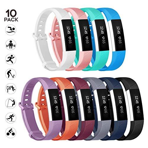 WEKIN alta Fitbit HR e Fitbit alta cinturino Band, silicone sostituzione braccialetto, adatto per Fitbit alta fitness monitoraggio attività, Cool Birthday Gift, 10pc, S
