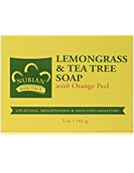 Lemongrass & Tea Tree Soap, With Orange Peel, 5 oz (141 g) - Nubian Heritage