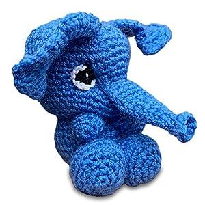 Elefant ElFi – gehäkeltes Kuscheltier – Handmade Spielzeug für Kinder und Babys – originelle Geschenkidee