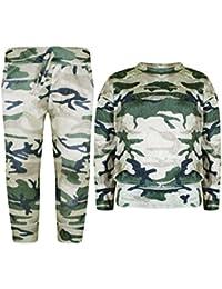 Terciopelo Chándal Militar para Niña, Sudadera y Pantalones, Lote de 2 piezas