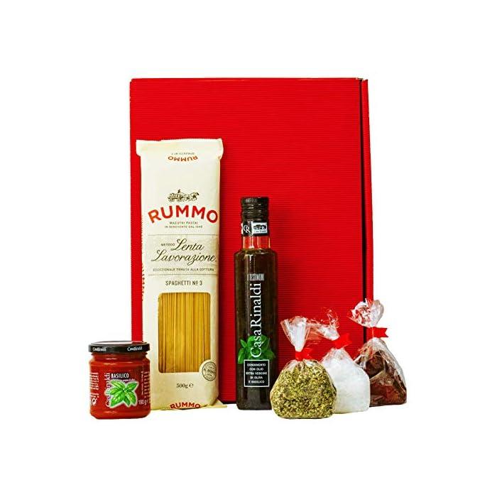 Geschenkset Neapel   Italien Geschenkkorb gefüllt mit Pasta, Feinkost & italienische Spezialitäten   Delikatessen…