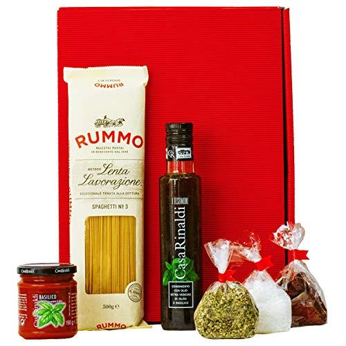 Pasta Geschenk Set Italien | Italienischer Geschenkkorb gefüllt mit Olivenöl & Feinkost |...