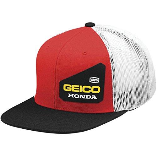 casquette-de-camioneur-100-percent-honda-geico-bond-rouge-default-rouge