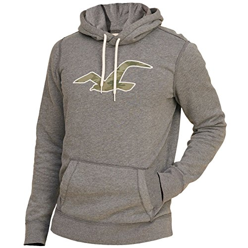 hollister-herren-patterned-icon-hoodie-kapuzenpullover-strickjacke-sweater-grosse-m-grau-626594701