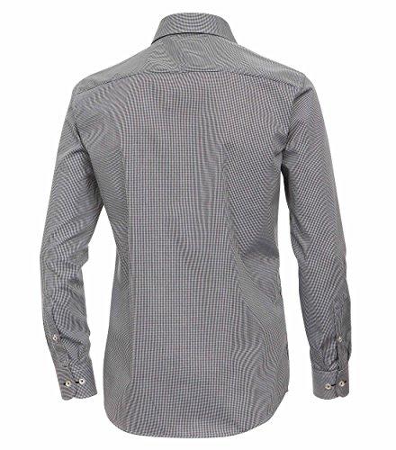 Michaelax-Fashion-Trade -  Camicia classiche  - A quadri - Classico  - Maniche lunghe  - Uomo Noir - Schwarz (800)