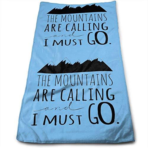 Hectwya Die Berge rufen an Ich muss gehen Mikrofaser Schnelltrocknende Handtücher Reisetuch Strandtuch 30 x 70 cm