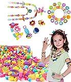 Juego de cuentas Pop, Juego de joyas de bricolaje BPA, collar, pulsera, diadema y anillo de broche de presión Pop Set Juego de perlas de creatividad, cuentas de bricolaje para niños niñas pequeños