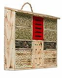 Windhager Insektenhotel AMBIENTE, Insektenhaus Nistplatz Brutplatz, Schutz für viele Insekten, aus massivem Fichten- und Pappelholz, braun, 06992
