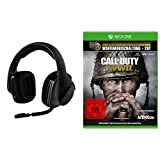Logitech G533 Gaming-Headset (kabelloser DTS 7.1 Surround-Sound) schwarz + Call of Duty: WWII - Standard Edition - [Xbox One]