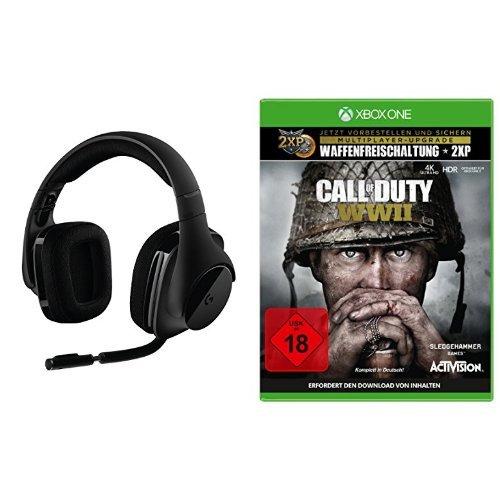 Logitech G533 Gaming-Headset (kabelloser DTS 7.1 Surround-Sound) schwarz + Call of Duty: WWII - Standard Edition - [Xbox One]
