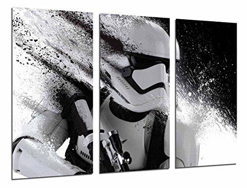 Wandbild - Stormtrooper, weiße Armee, weißer Helm, 97 x 62 cm, Holzdruck - XXL Format - Kunstdruck, ref.26581