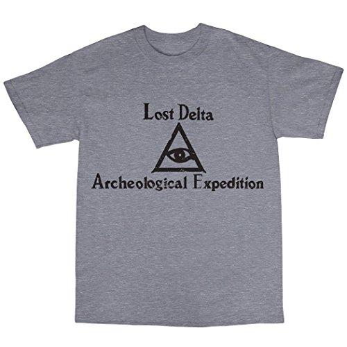 Lost Delta Archeological Expedition T-Shirt 100% Baumwolle Grau