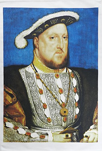 King Henry VIII Historical Portrait - Large Cotton Tea Towel by Half a Donkey
