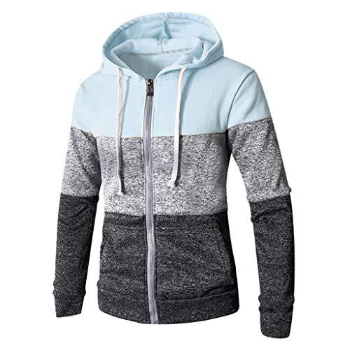 Herren Slim fit Kapuzenpullover, ◆Elecenty◆ Jacke Sweatjacke Sweater Kapuzenjacke Hoodie Männer Kapuze Baumwolle Einfarbig Pullover Sportbekleidung Sweatshirt