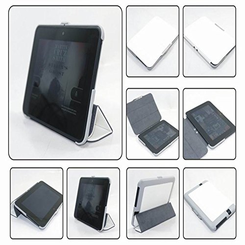 2012 Hd Case Kindle 7 Fire (Meijunter White Halter Leder Protector Pouch Fall Decken Tablette-Kasten Cover Case Für 7