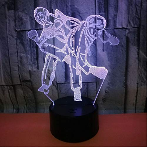 Kreative 3D Visuelle Boxer Boxen Led Nachtlicht 7 Farbe Home Table Party Bar Decor Lampe Jungen Mann Kinder Favor Beste Geschenke (Party Kinder Favors Für Beste)