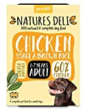 Natures Deli Tablett, für Erwachsene, Hühnerwäsche, glutenfrei, Nassfutter, 400 g, 21 Stück