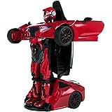 RASTAR - Coche teledirigido transformable en robot, escala 1:14, color rojo (Colorbaby 85003)