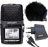 Zoom H2n Digital Rekorder + KEEPDRUM Windschutz WSBK + USB Netzteil + Kabel Mini-USB/USB 1,5m