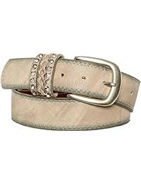 Gadzo® Damen Gürtel strass Vintage Look kürzbar teil Leder Kamari15